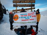 On top of Africa. Africa highest point