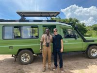 Judith Safaris Guide and guest in Akagera National park