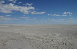Vast Makgadikgadi salt Pans