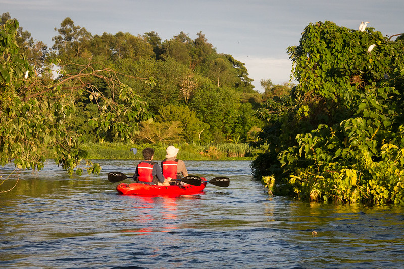 kayaking on the nile