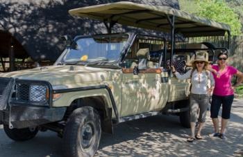 women on safari
